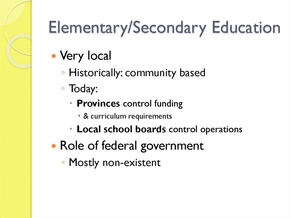 Elementary/Secondary Education