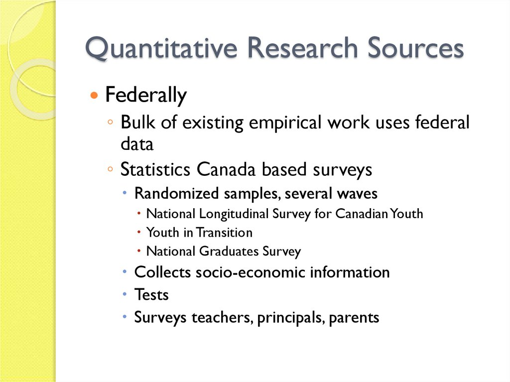 Quantitative Research Sources