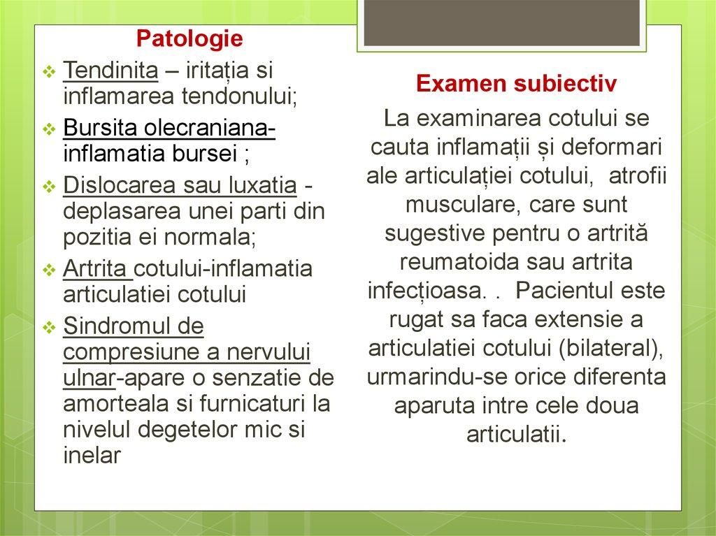 artrita articulației cotului 1 grad)