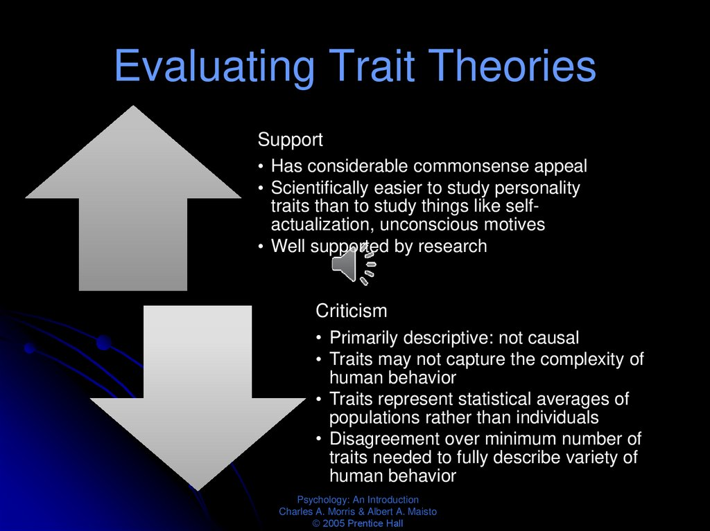 Evaluating Trait Theories
