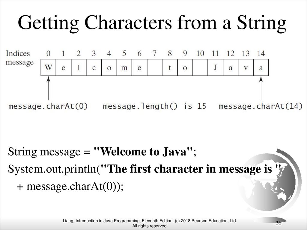 Getting Characters from a String