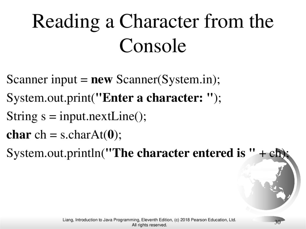Reading a Character from the Console