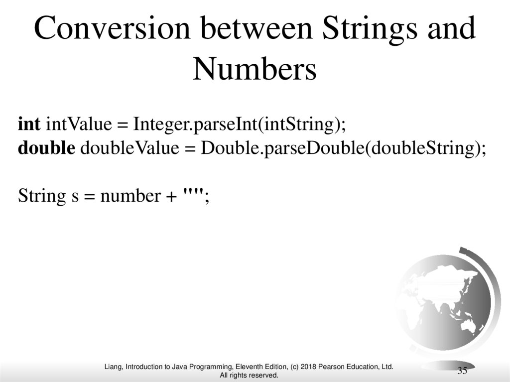 Conversion between Strings and Numbers