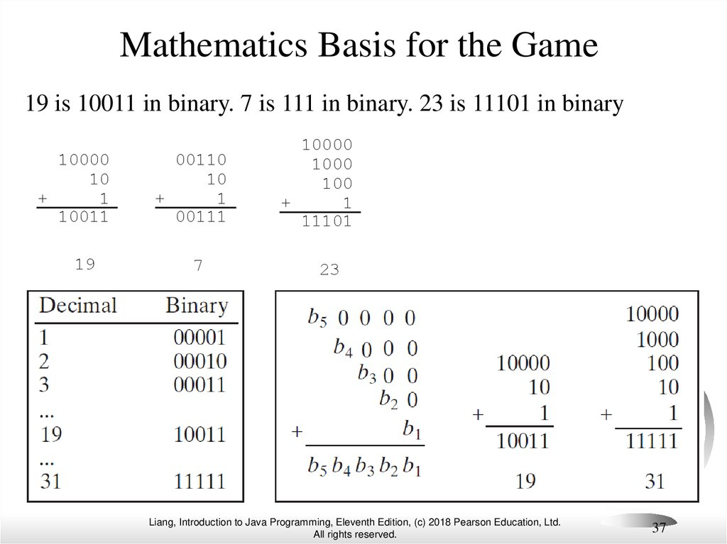 Mathematics Basis for the Game