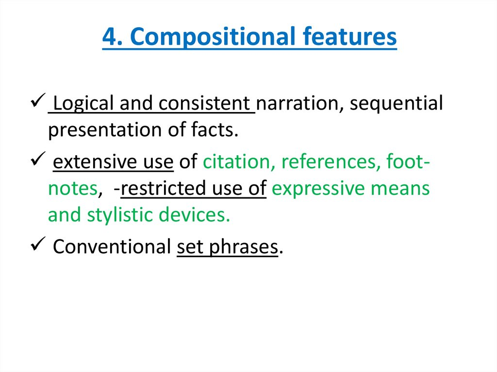 4. Compositional features