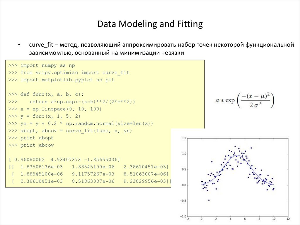 Data Modeling and Fitting