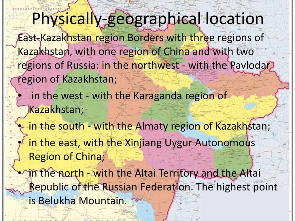 Physically-geographical location