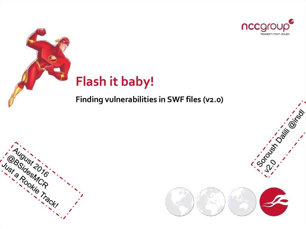 Flash it baby  Finding vulnerabilities in SWF files - online