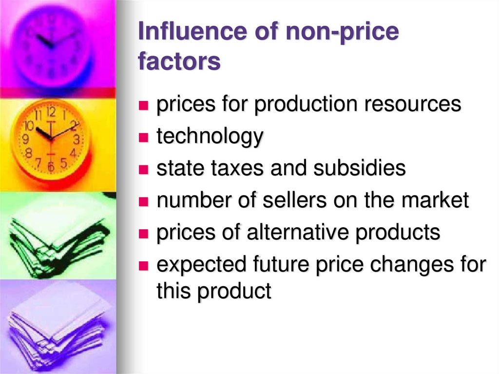 Influence of non-price factors