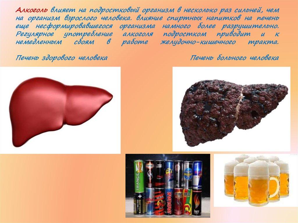 Картинка влияние алкоголя на организм подростка