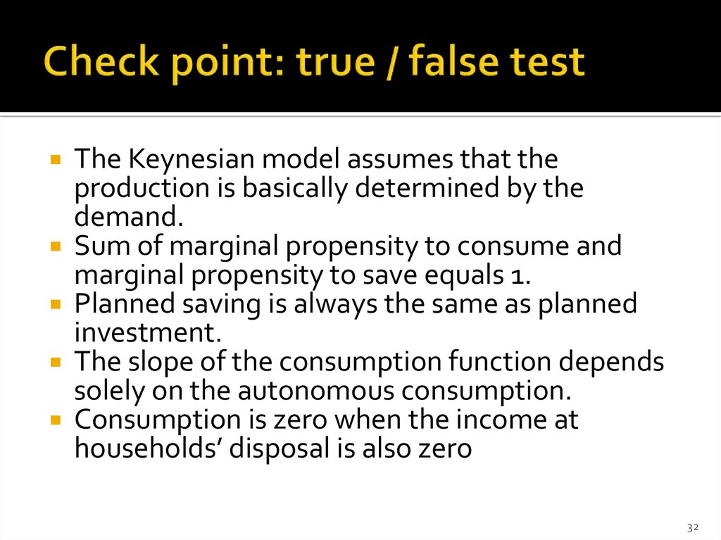 Check point: true / false test