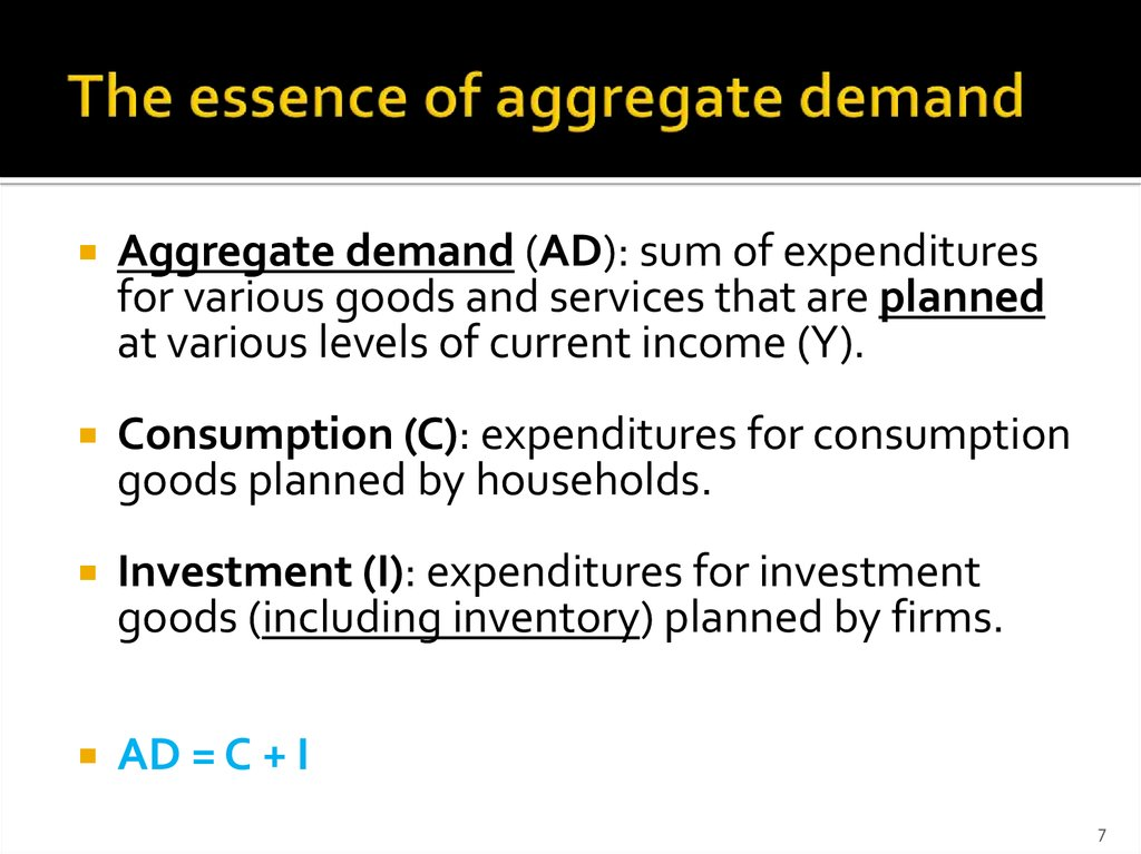 The essence of aggregate demand