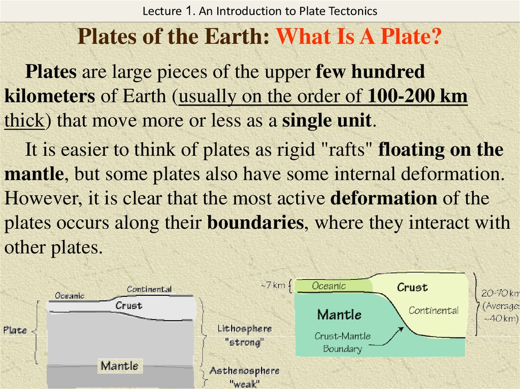 Plates of the Earth: What Is A Plate?