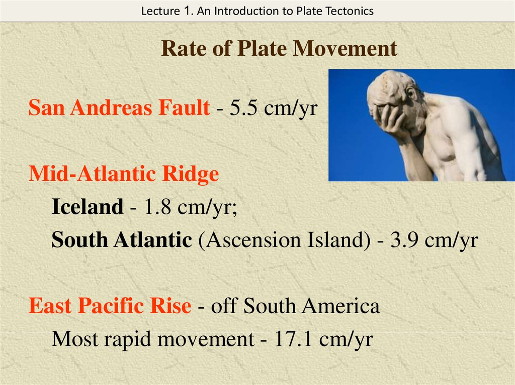 Rate of Plate Movement
