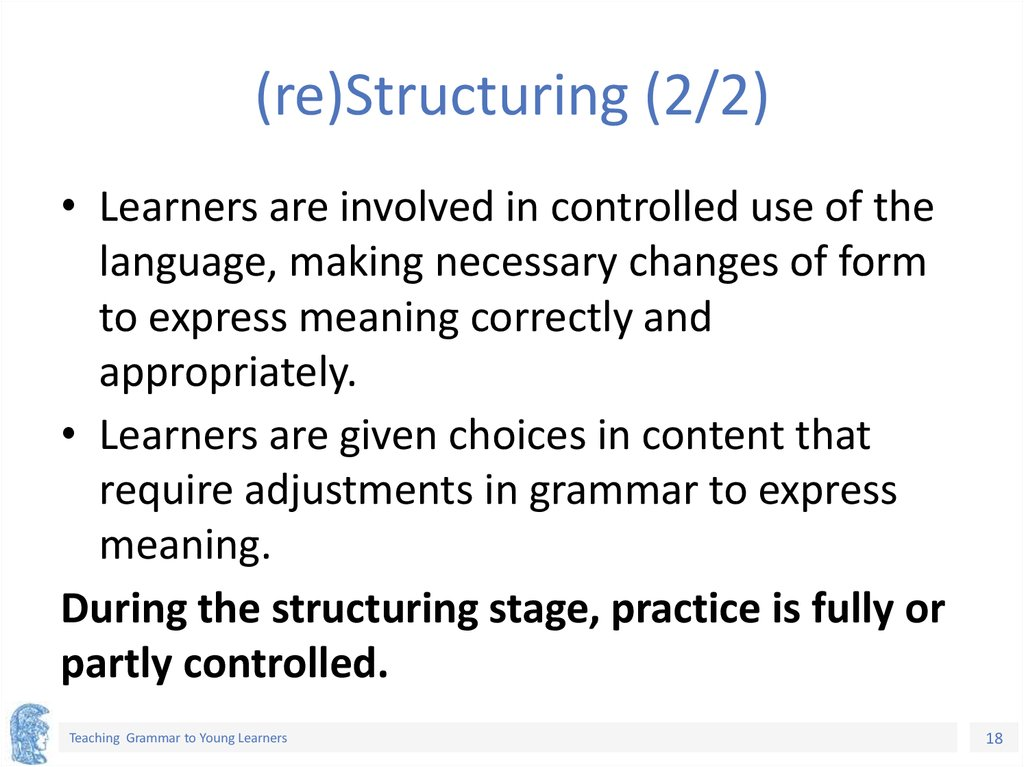 (re)Structuring (2/2)