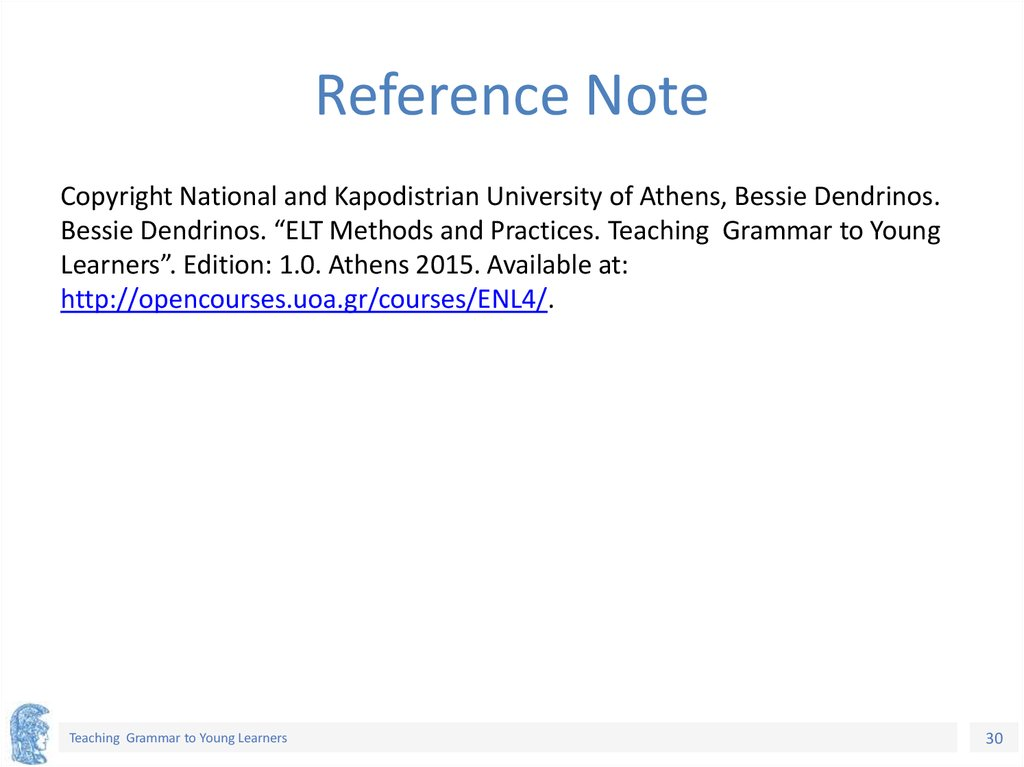 Reference Note