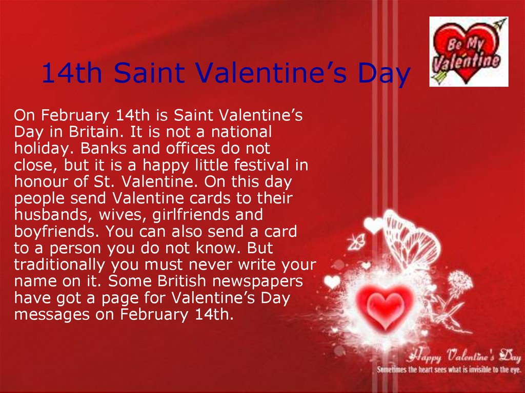 14th Saint Valentine's Day