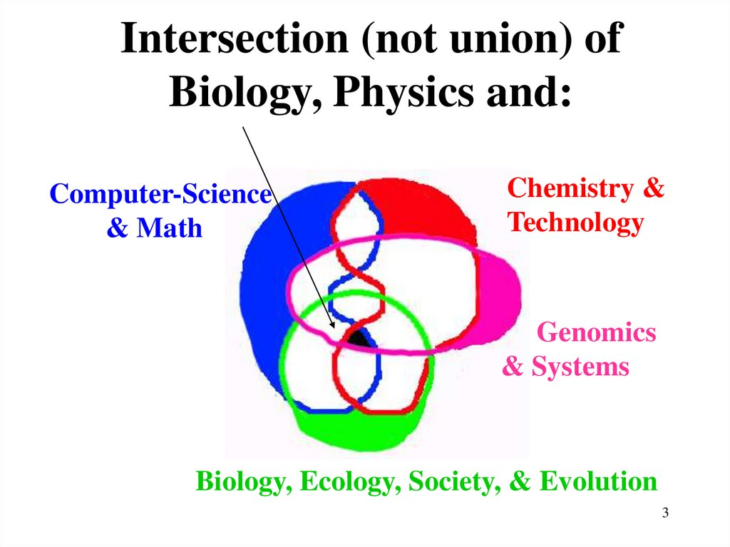 Intersection (not union) of Biology, Physics and: