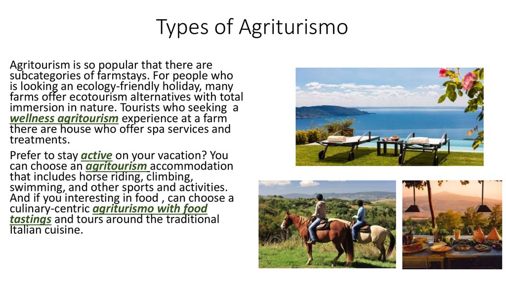 Types of Agriturismo