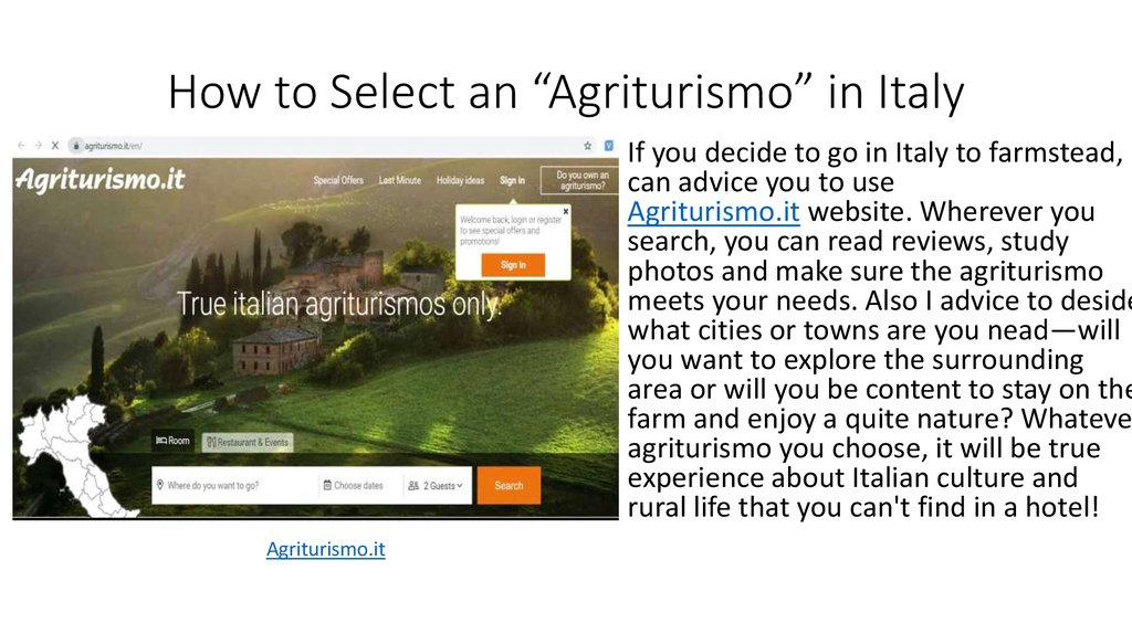 "How to Select an ""Agriturismo"" in Italy"