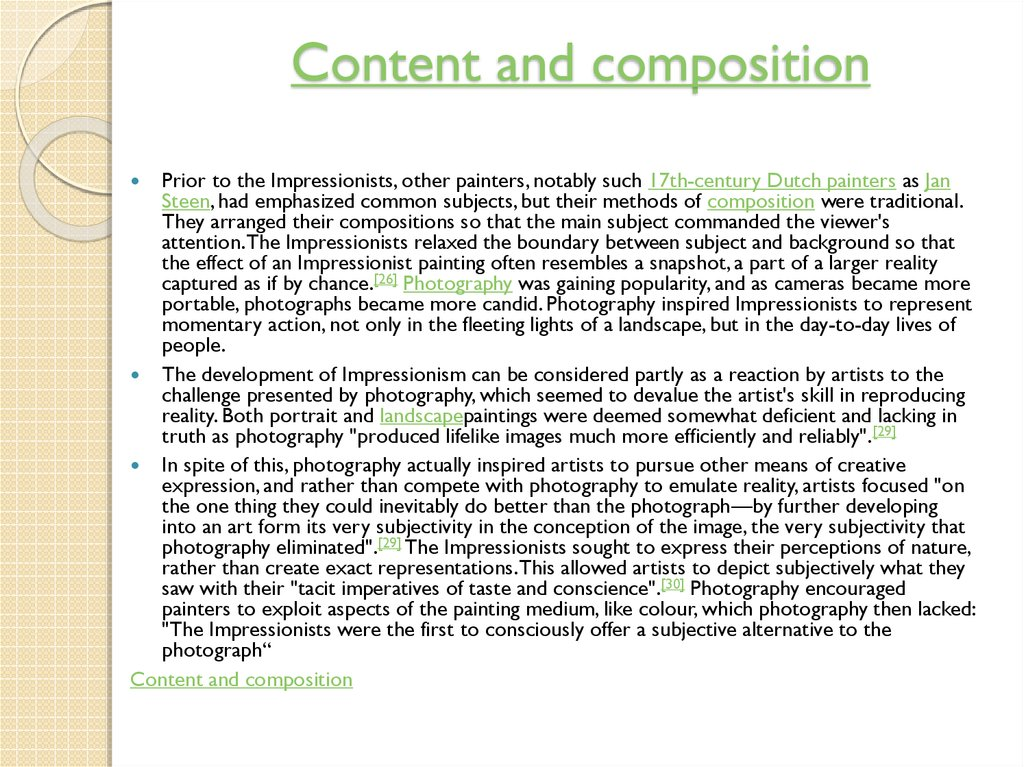Content and composition