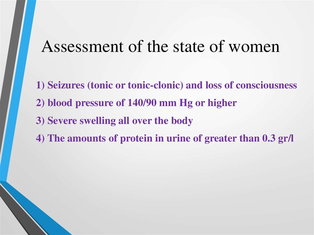 Assessment of the state of women
