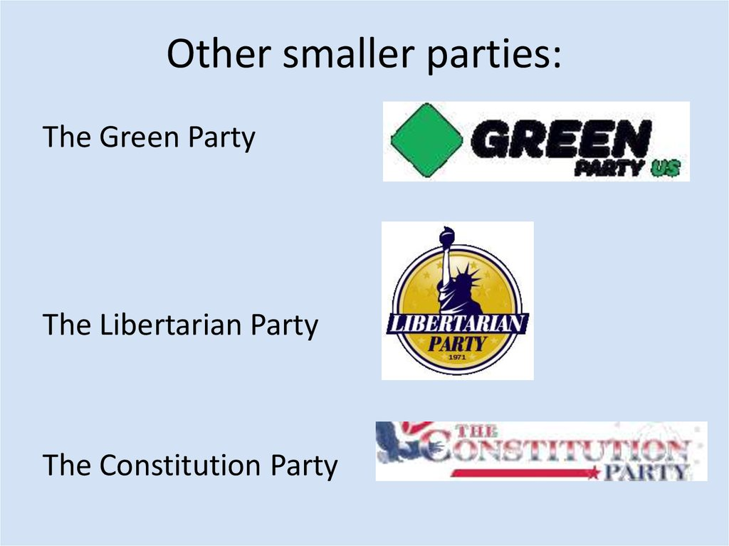 Other smaller parties: