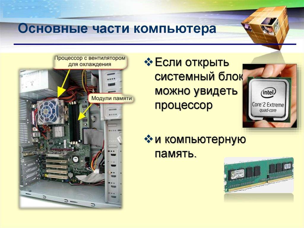 картинки компьютер составные части