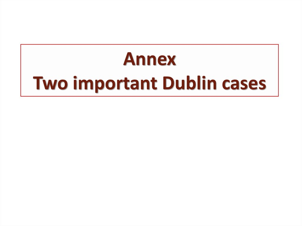 Annex Two important Dublin cases