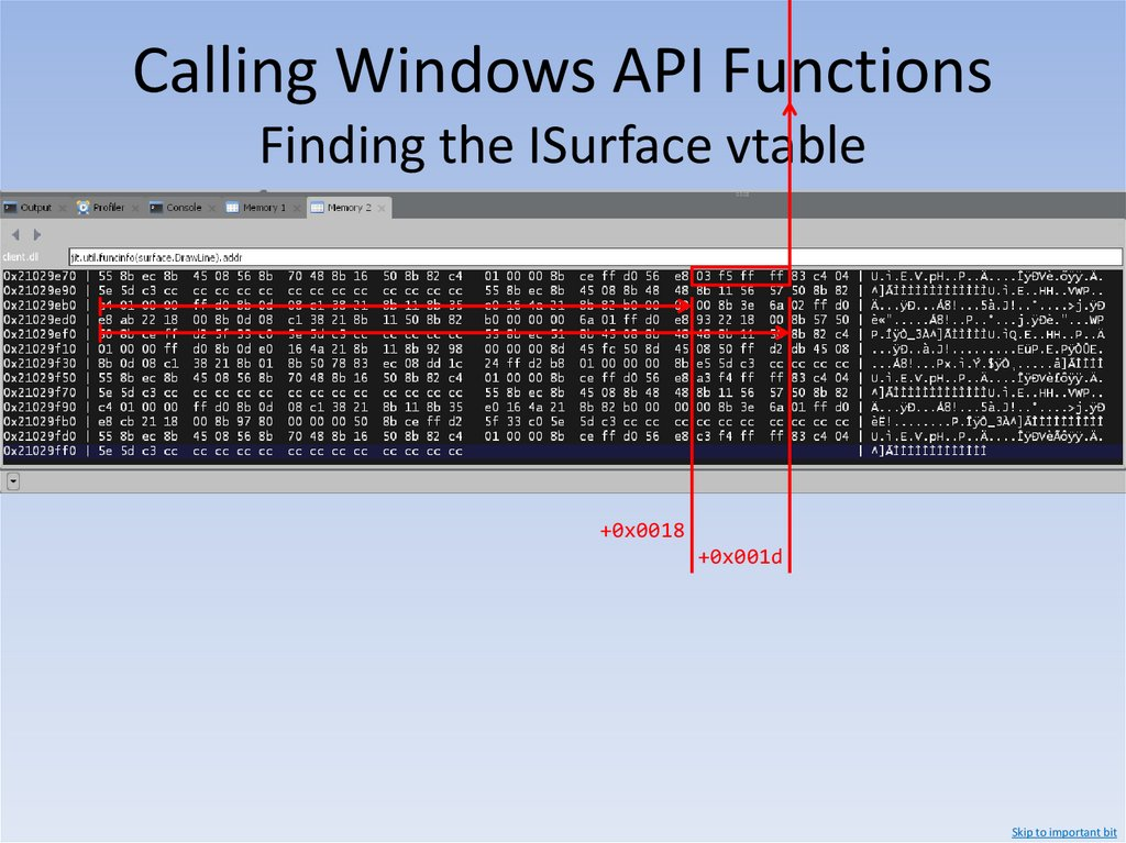 Calling Windows API Functions x86 Calling Conventions – stdcall