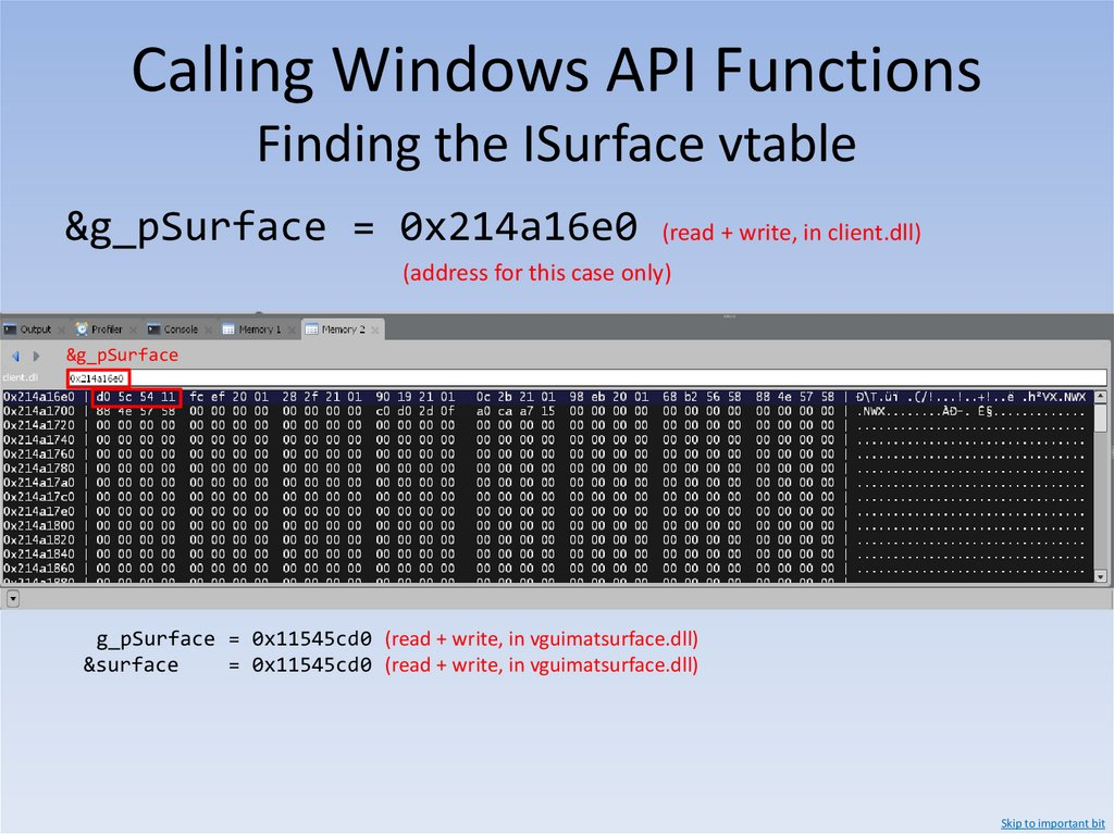 Calling Windows API Functions x86 Calling Conventions