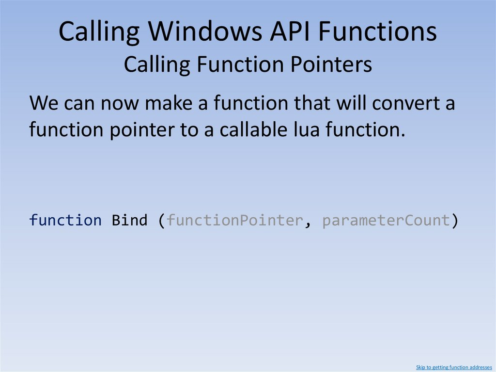 Calling Windows API Functions ISurface::DrawLine