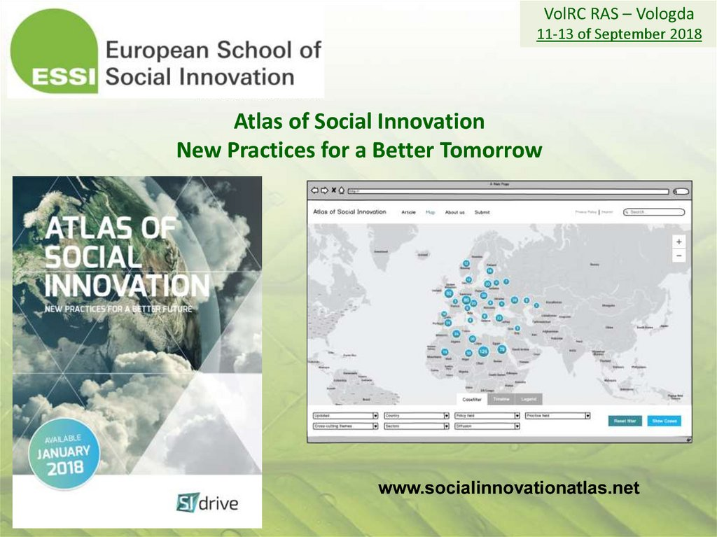 Atlas of Social Innovation New Practices for a Better Tomorrow