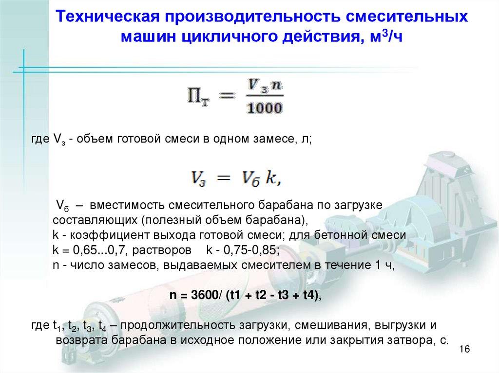 Коэффициент выхода бетонной смеси бетоносмесительных машин периодического действия вреден керамзитобетон
