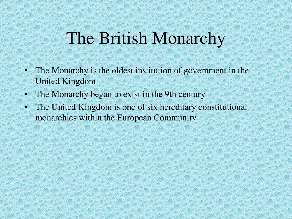 The British Monarchy
