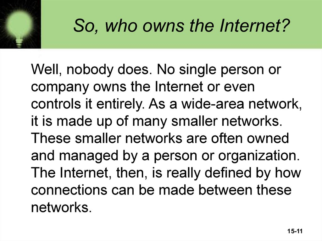 So, who owns the Internet?
