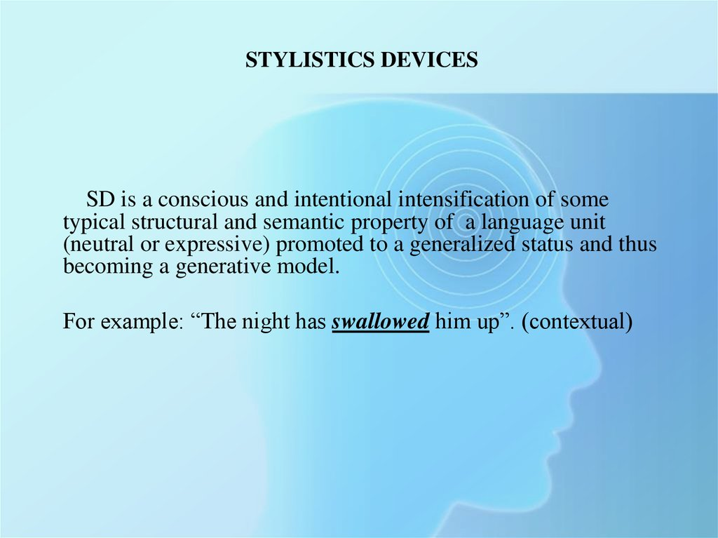 Stylistics Devices