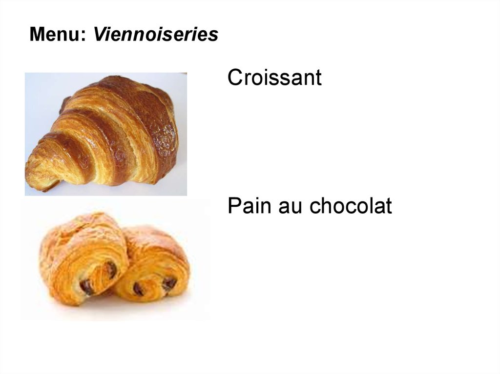 Menu: Viennoiseries