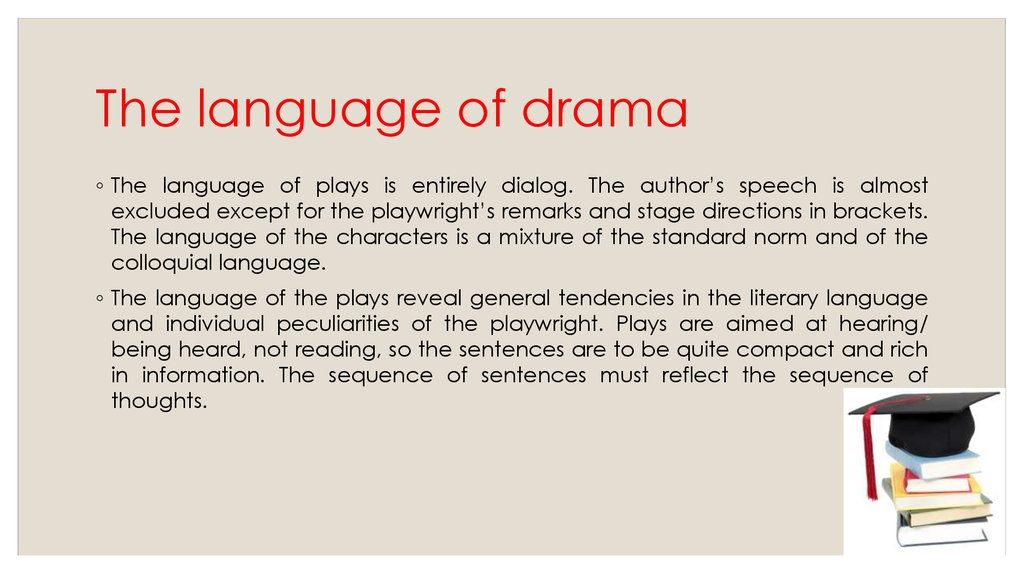 The language of drama