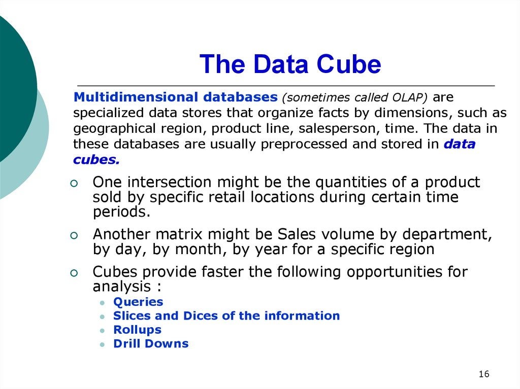 The Data Cube