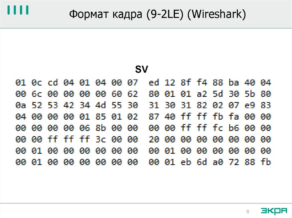 Формат кадра (9-2LE) (Wireshark)
