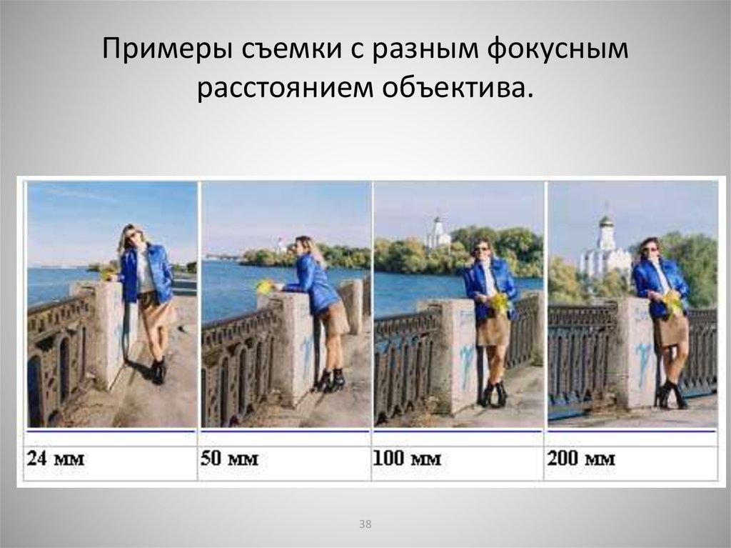 примеры фото зависимость фокусного расстояния подобных плачевных примеров