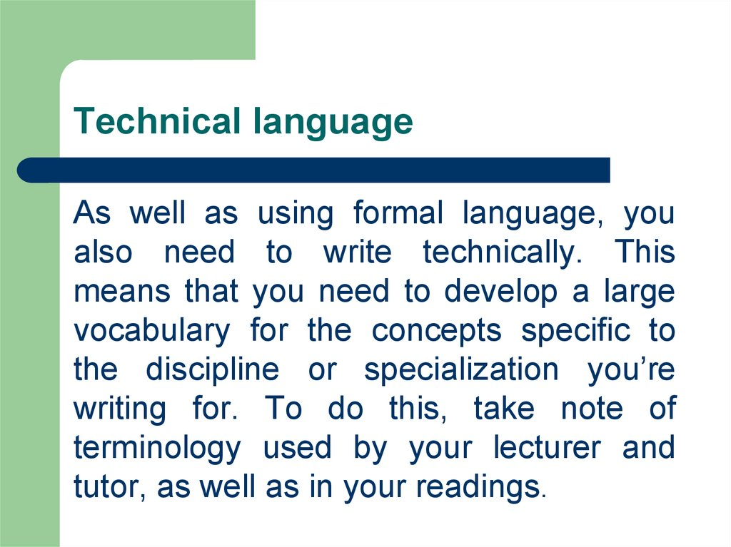 Technical language