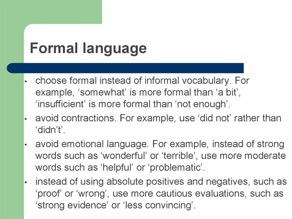 Formal language
