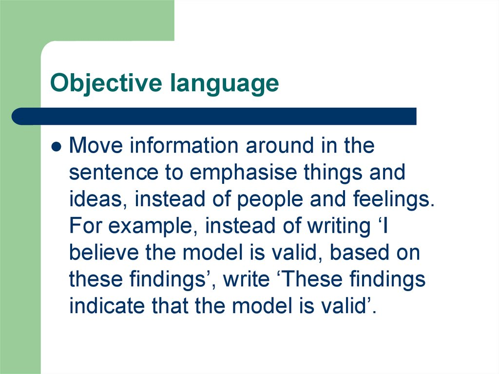 Objective language