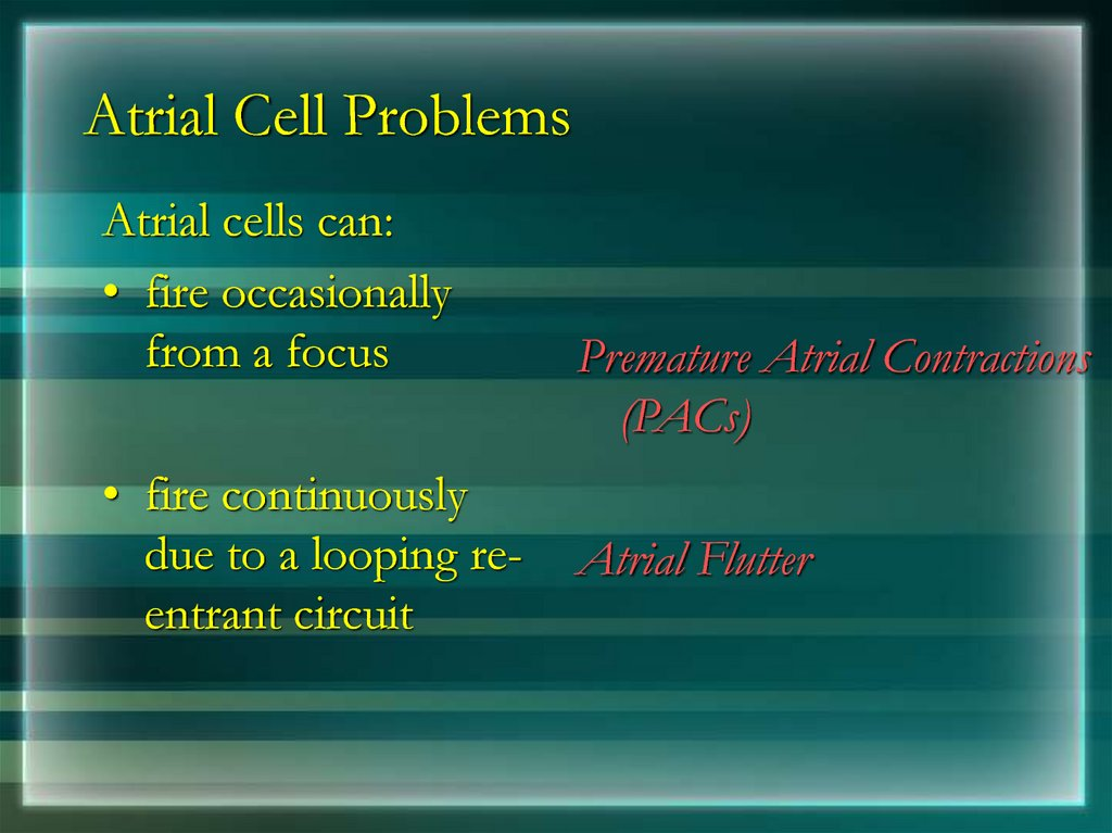 Atrial Cell Problems