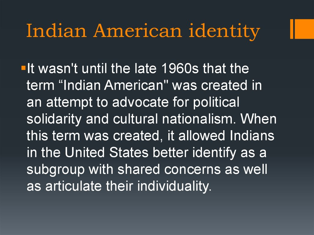 Indian American identity
