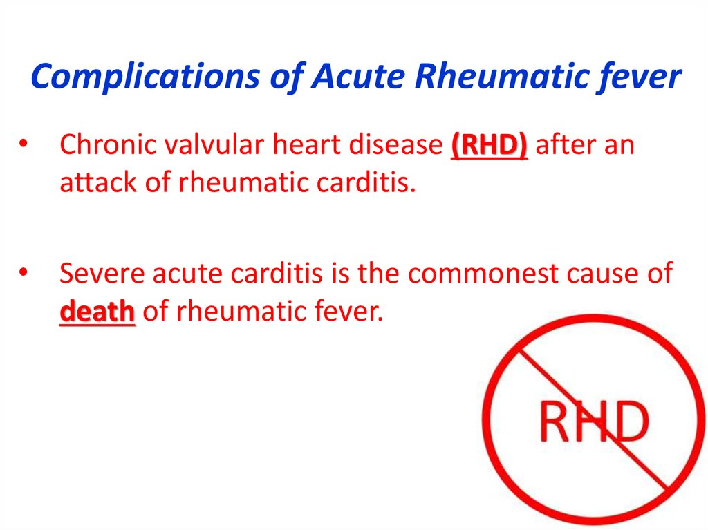 Complications of Acute Rheumatic fever