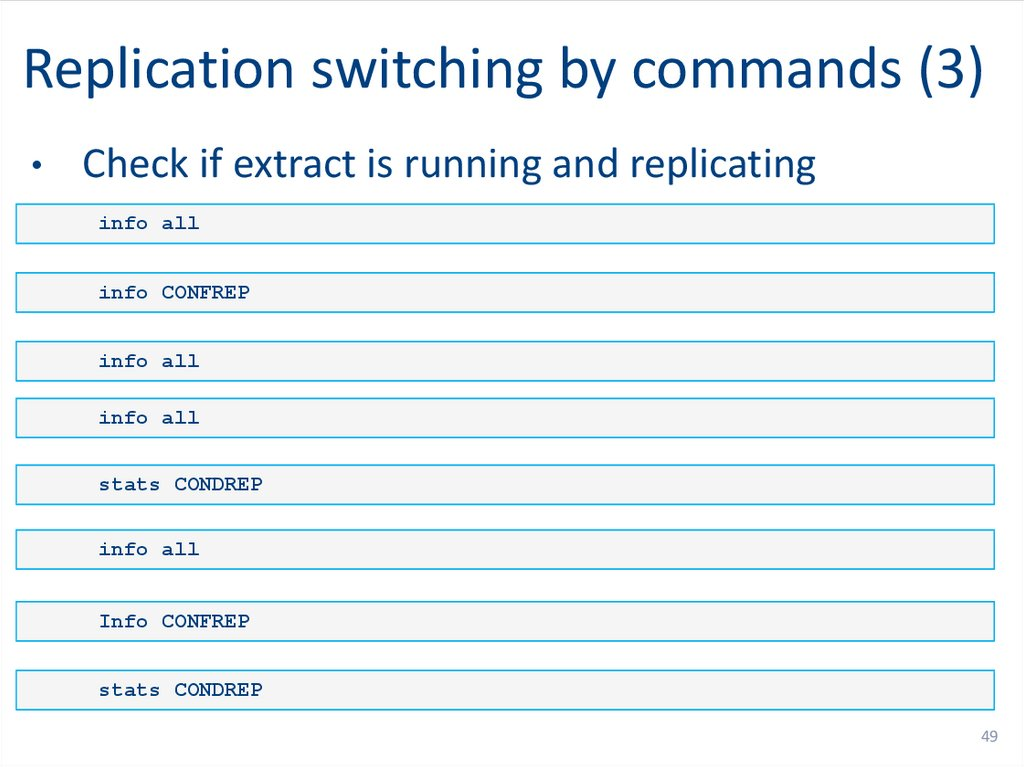 Replication switching by commands (1)
