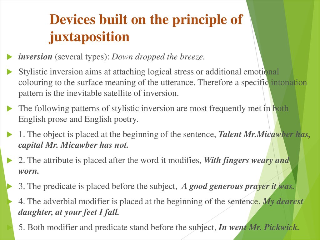 Devices built on the principle of juxtaposition
